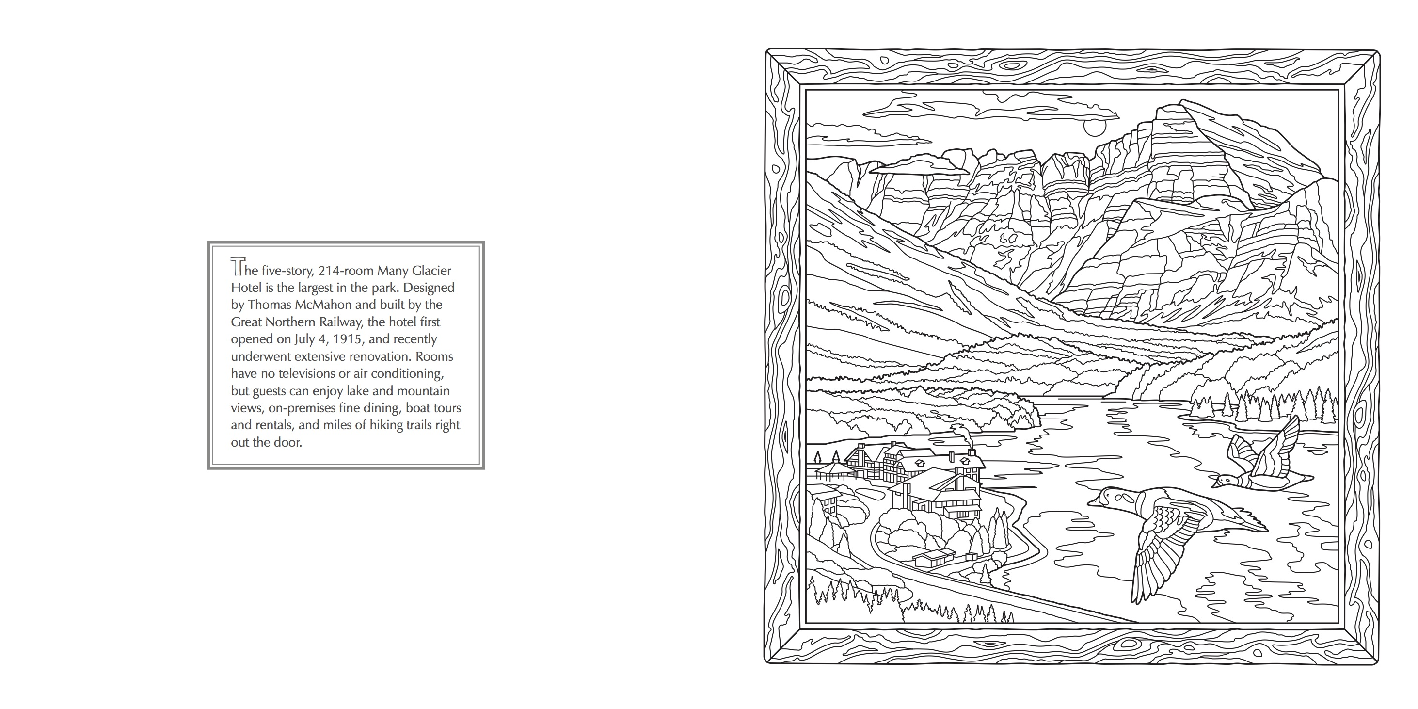 new glacier national park coloring book farcountry press