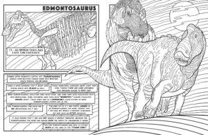Edmontosaurus - Dinosaurs Live! - Dinosaur Coloring Book
