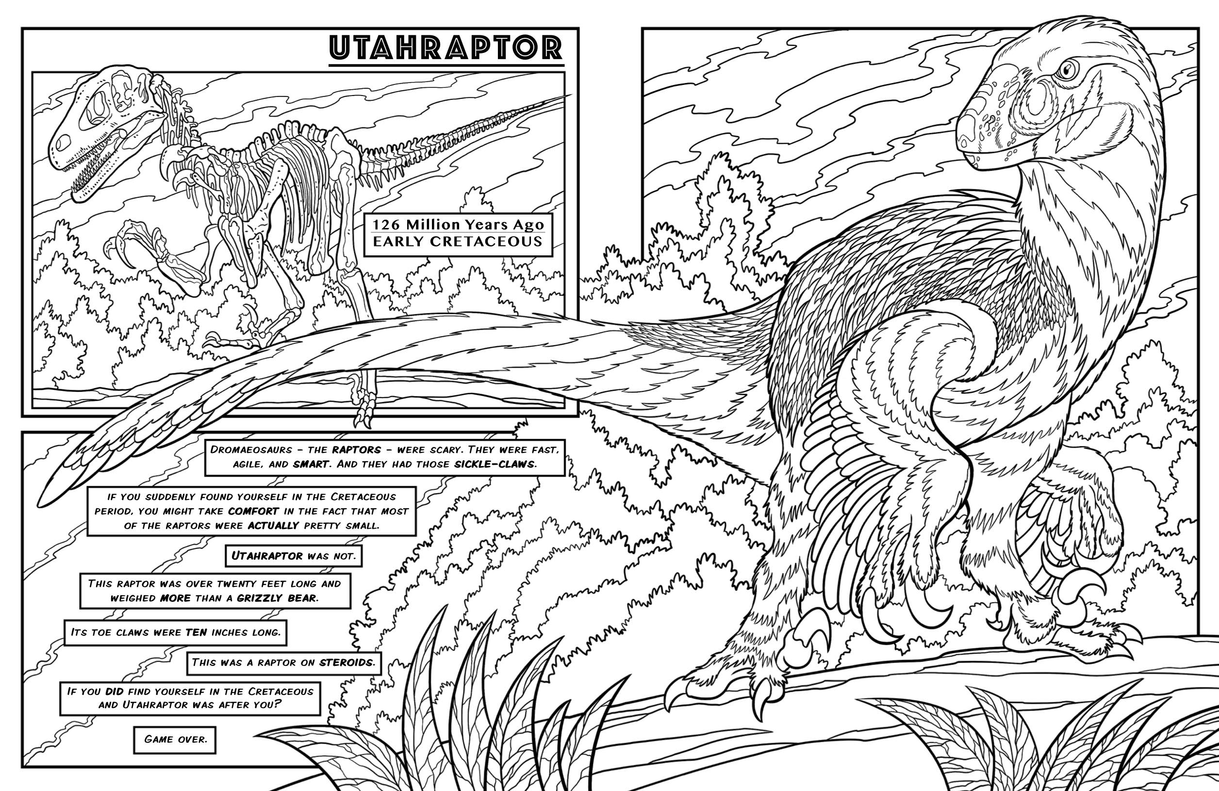 dinosaurus utah raptor coloring pages - photo#26