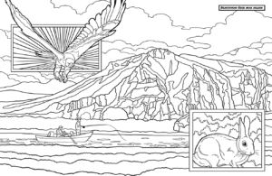 Beaverhead Rock - Montana Coloring Book Image