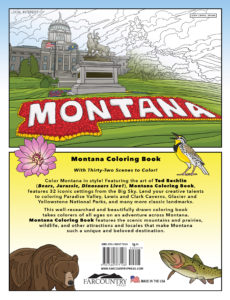 Back Cover - Montana Coloring Book