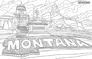 Montana State Capital Coloring Book